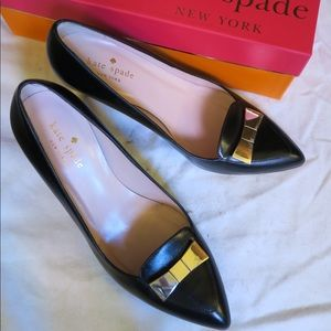 Kate Spade - 7M Yvonne Black Pumps with Bow